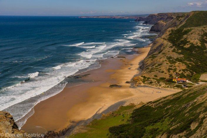 Blick auf Praia Cordoama