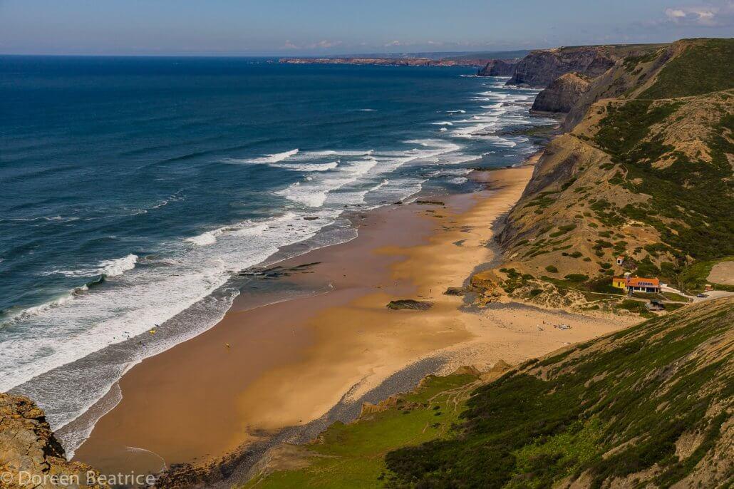 Freistehen in Portugal - Praia do Cordoama