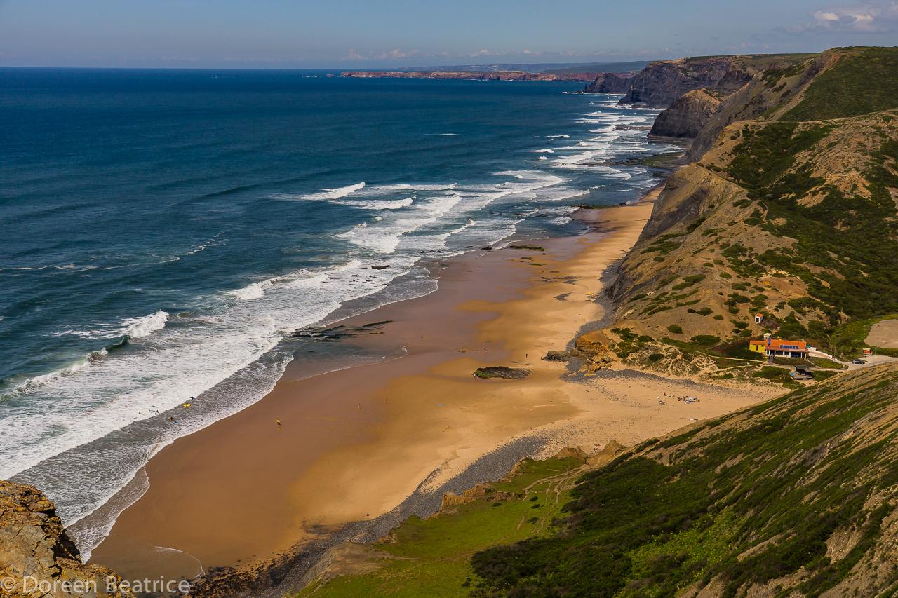 Freisehen in Portugal bei tosendem Meeresrauschen, Cordoama Westküste