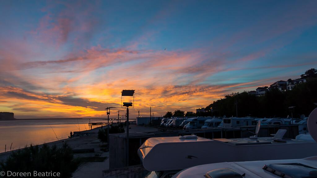 Über den Wohnmobildächern Lagune Obidos