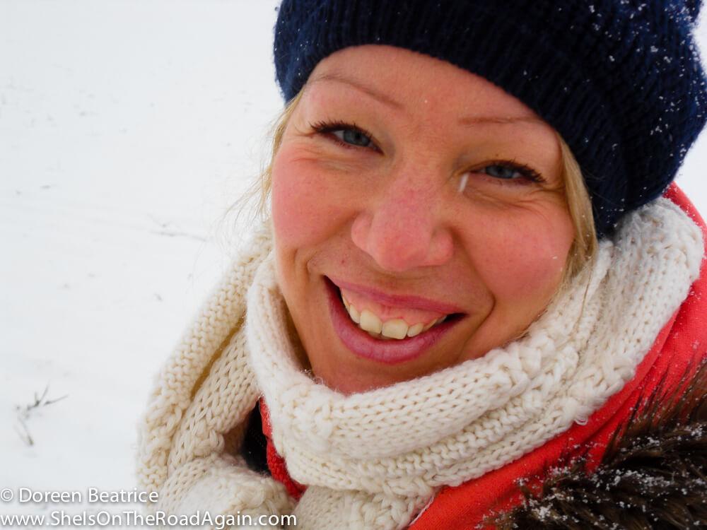Doreen im Schnee