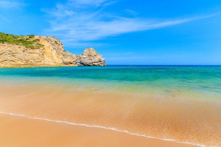 Goldener Strand am Praia do Barranco - Freistehen in Piortugal