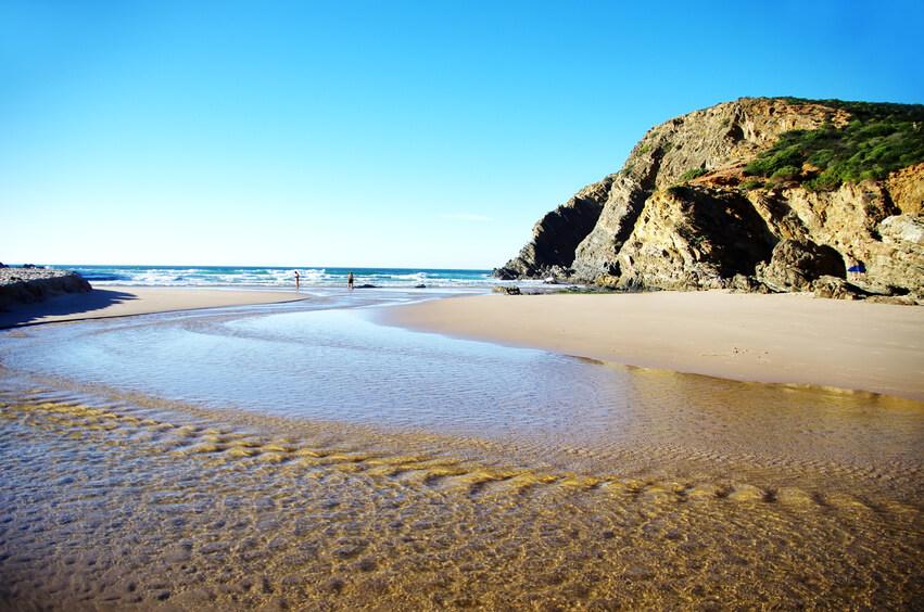 Cravalhal Beach, Freistehen in der Mitte Portugals