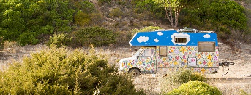 Hippie Camper an der Algarve