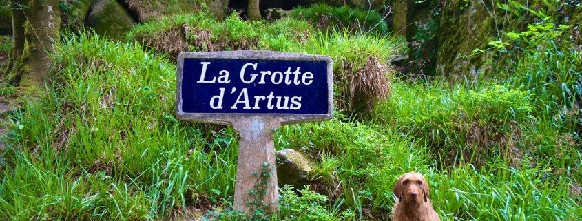 Yeti hat die Artus-Grotte entdeckt ©tierisch-in-fahrt.de