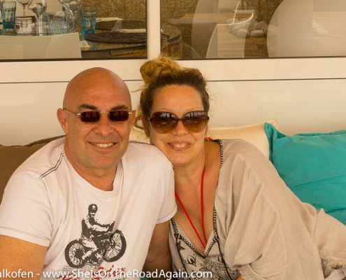 Doreen & Carsten, gerade angekommen in Saintes Maries de la Mer - Ostern 2017