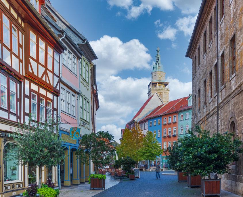 Rathaus & Blick auf die Marktkirche
