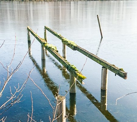 Einsamer Steg am De Wittsee ★ Niederrhein
