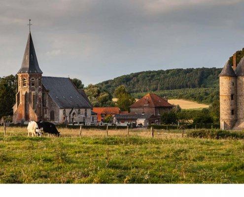zeigt eine Ortschaft im Nord pas de Calais