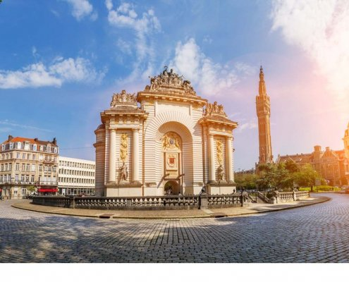 zeigt Lille, das Tor Paris