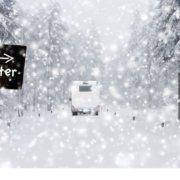 zeigt ein Wohnmobil im Schnee