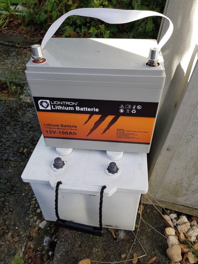 Lithium Batterie im Wohnmobil einbauen