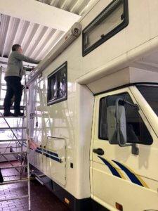 Arbeiten am Wohnmobil