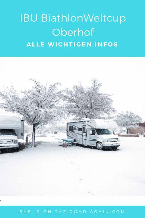 Mit dem Wohnmobil zum Biathlon Weltcup nach Oberhof - alle relevanten Informationen. Anreise, Shuttleservice, Übernachten, Aktivitäten #Biathlon #Oberhof #Weltcup