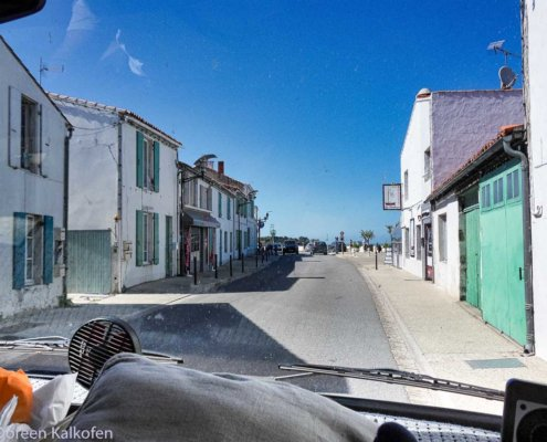 Blick aus Wohnmobil auf Ile de Re
