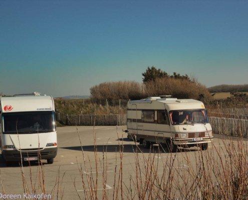 Erste Wohnmobil Reise - 2 Wohnmobile am Kap Gris Netz